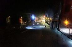 Xe container đâm xe máy tại Quảng Trị, hai người tử vong