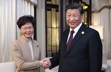 Chủ tịch Trung Quốc nhấn mạnh ủng hộ lãnh đạo đặc khu Hong Kong