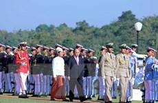 Tổng thống Myanmar chủ trì lễ đón Thủ tướng Chính phủ Nguyễn Xuân Phúc