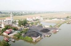 Nam Định: Dừng hoạt động các điểm tập kết than trái phép ven sông Đáy