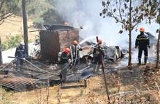 Lâm Đồng: Đốt thực bì khu vực rừng thông làm cháy lan sang nhà dân