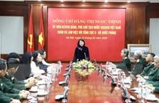 Phó Chủ tịch nước thăm, làm việc với Tổng cục II thuộc Bộ Quốc phòng