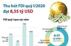 [Infographics] Vốn thu hút của nhà đầu tư nước ngoài đạt 8,55 tỷ USD