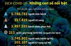 [Infographics] Dịch COVID-19: Những con số nổi bật
