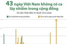 [Infographics] 43 ngày Việt Nam không có ca lây nhiễm trong cộng đồng