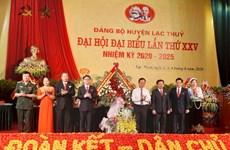 Đại hội Đảng: Huyện Lạc Thủy đẩy mạnh phát triển kinh tế-xã hội