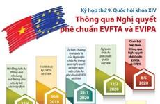 [Infographics] Quốc hội thông qua Nghị quyết phê chuẩn EVFTA và EVIPA