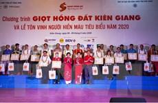 Kiên Giang: Khai mạc hành trình đỏ, tôn vinh người hiến máu tiêu biểu