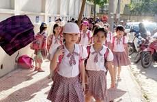 Vĩnh Phúc tạm dừng tổ chức dạy học buổi chiều do thời tiết nắng nóng