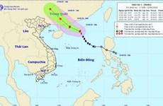 Trong 12 giờ tới, bão số 1 bão di chuyển hướng Tây Tây Bắc và mạnh lên