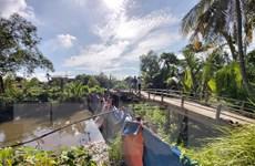 Bến Tre: Hiệu quả từ đập tạm ngăn mặn ở Chợ Lách