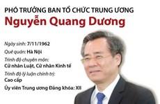 [Infographics] Phó Trưởng Ban Tổ chức Trung ương Nguyễn Quang Dương