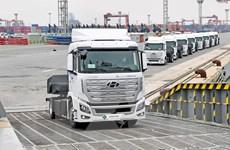 Hàn Quốc lần đầu tiên xuất khẩu xe tải chạy bằng hydro