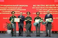 Bộ trưởng Quốc phòng thăm, làm việc với Trung tâm Nhiệt đới Việt-Nga