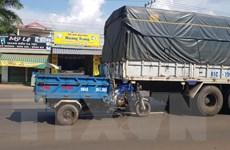Bình Phước: Va chạm liên hoàn với xe tải ở Quốc lộ 14, 2 người thương