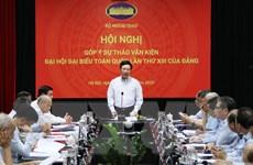 Bộ Ngoại giao góp ý dự thảo văn kiện Đại hội Đảng lần thứ XIII