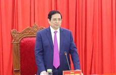 Ông Phạm Minh Chính làm việc với Ban Thường vụ Tỉnh ủy Gia Lai