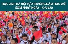 Học sinh Hà Nội tựu trường năm học mới sớm nhất ngày 1/9 tới