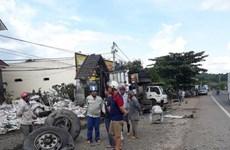 Lâm Đồng: Xe tải mất lái ở dốc Tam Bố, đè 1 người trên vỉa hè tử vong