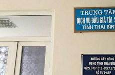 Khởi tố cán bộ Trung tâm Dịch vụ đấu giá tài sản tỉnh Thái Bình