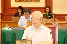 Bộ Chính trị làm việc về chuẩn bị Đại hội các Đảng bộ trực thuộc TW