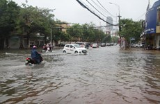 Bão số 5: Mưa to gây ngập cục bộ nhiều tuyến đường ở thành phố Hà Tĩnh
