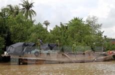 Sóc Trăng: Bắt quả tang đối tượng khai thác cát trái phép ở sông Hậu