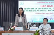 TP HCM họp báo về quy định và mức phí cách ly với người nhập cảnh