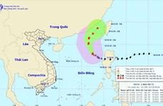 Áp thấp nhiệt đới mạnh lên, trở thành cơn bão số 7 trên biển Đông