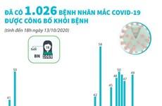 [Infographics] Đã có 1.026 ca mắc COVID-19 được công bố khỏi bệnh