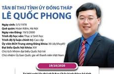 [Infographics] Tân Bí thư Tỉnh ủy Đồng Tháp Lê Quốc Phong