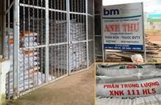 Lâm Đồng phát hiện việc lưu hành, tiêu thụ 40 tấn phân bón giả
