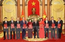 Tổng Bí thư, Chủ tịch nước trao Quyết định bổ nhiệm 9 Đại sứ mới