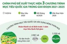 Chính phủ đề xuất thực hiện 3 chương trình mục tiêu quốc gia