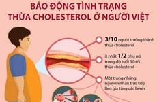 [Infographics] Báo động tình trạng thừa cholesterol ở người Việt