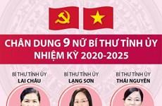 [Infographics] Chân dung 9 nữ Bí thư Tỉnh ủy nhiệm kỳ 2020-2025