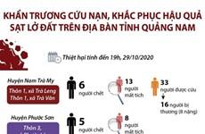 Khẩn trương cứu nạn, khắc phục hậu quả sạt lở đất ở tỉnh Quảng Nam