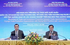 Tỉnh Quảng Ninh xúc tiến đầu tư và thúc đẩy xuất khẩu hàng hóa