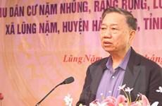 Bộ trưởng Công an dự Ngày hội Đại đoàn kết toàn dân tộc ở Cao Bằng