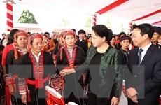 [Photo] Chủ tịch Quốc hội Nguyễn Thị Kim Ngân làm việc tại Yên Bái