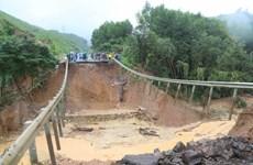 Khẩn trương khắc phục sự cố sụt lún trên Quốc lộ 26 đoạn qua Đắk Lắk