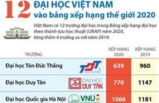 [Infographics] 12 đại học Việt Nam vào bảng xếp hạng thế giới 2020