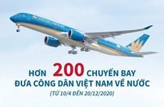[Infographics] Hơn 200 chuyến bay đưa công dân Việt Nam về nước