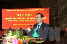 Thành ủy Hà Nội gặp mặt hội viên Câu lạc bộ Thăng Long