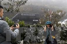 Lào Cai: Xuất hiện băng tuyết tại đèo Ô Quý Hồ và xã Y Tý