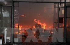 Hải Phòng: Cháy lớn thiêu rụi hơn 400m2 nhà xưởng giữa khu dân cư