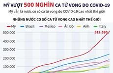 [Infographics] Mỹ vượt 500.000 ca tử vong do dịch COVID-19
