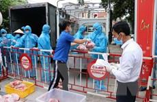 Hải Phòng: Gần 1,5 tấn thịt lợn cấp phát tới từng hộ dân thôn Lôi Động