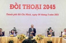 """[Photo] Thủ tướng Nguyễn Xuân Phúc chủ trì cuộc """"Đối thoại 2045"""""""