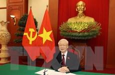 Tổng Bí thư Nguyễn Phú Trọng điện đàm với Tổng thống Nga V.Putin